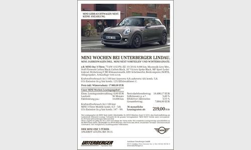 Foto der News MINI Wochen bei Unterberger Lindau