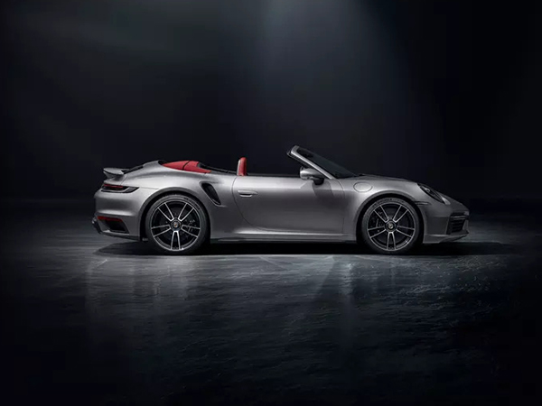 Top down: the 911 Turbo S Cabriolet.