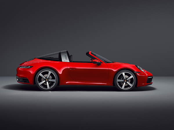 Extravagant Targa design with a modern interpretation.