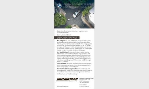 Foto des Stellenangebots BMW DISPONENT (M/W/D)