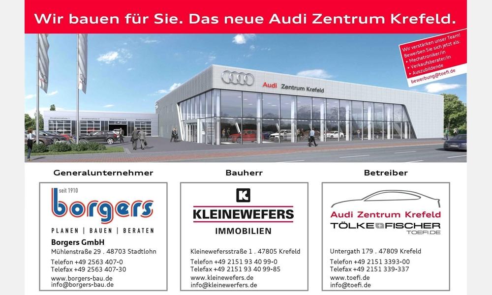 Spatenstich für das neue Audi Zentrum Krefeld