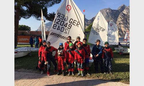 Foto der News LSC Optimisten trainieren am Gardasee
