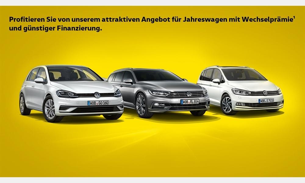 Wechselprämie¹ für VW Jahreswagen