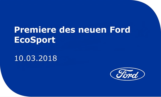 Foto des Events Premiere Ford EcoSport