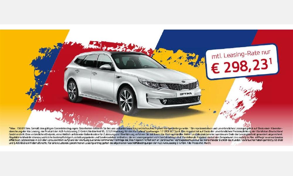 Kia Optima Sportwagon 1.7 CRDI Spirit für 298,23€ im Monat