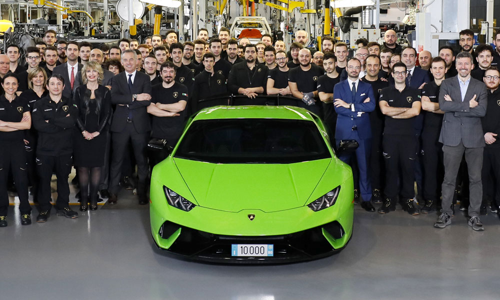 Bild der News Automobili Lamborghini: 10.000 produzierte Huracán in vier Jahren