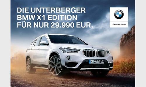 Die Unterberger BMW X1 EDITION für nur 29.990 EUR.