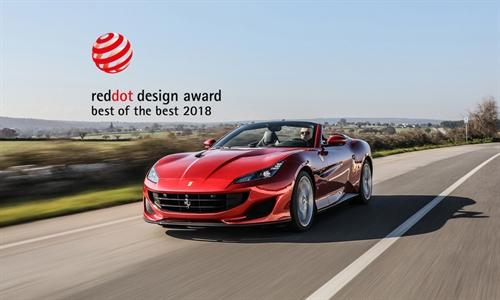 """Foto der News Ferrari gewinnt das vierte Jahr in Folge den Design Award """"Red Dot: Best of the Best"""""""