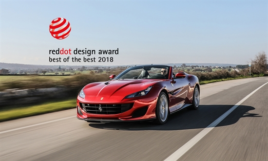 "Bild der News Ferrari gewinnt das vierte Jahr in Folge den Design Award ""Red Dot: Best of the Best"""