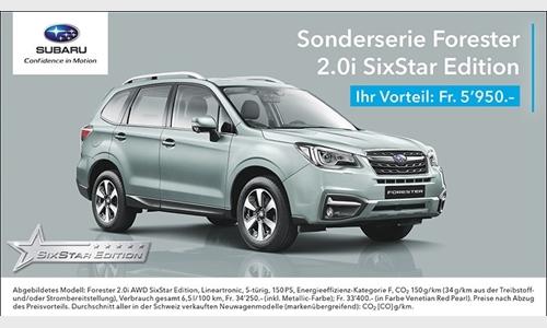 Foto der News Die Subaru Sonderserie: Forester Six Star Edition