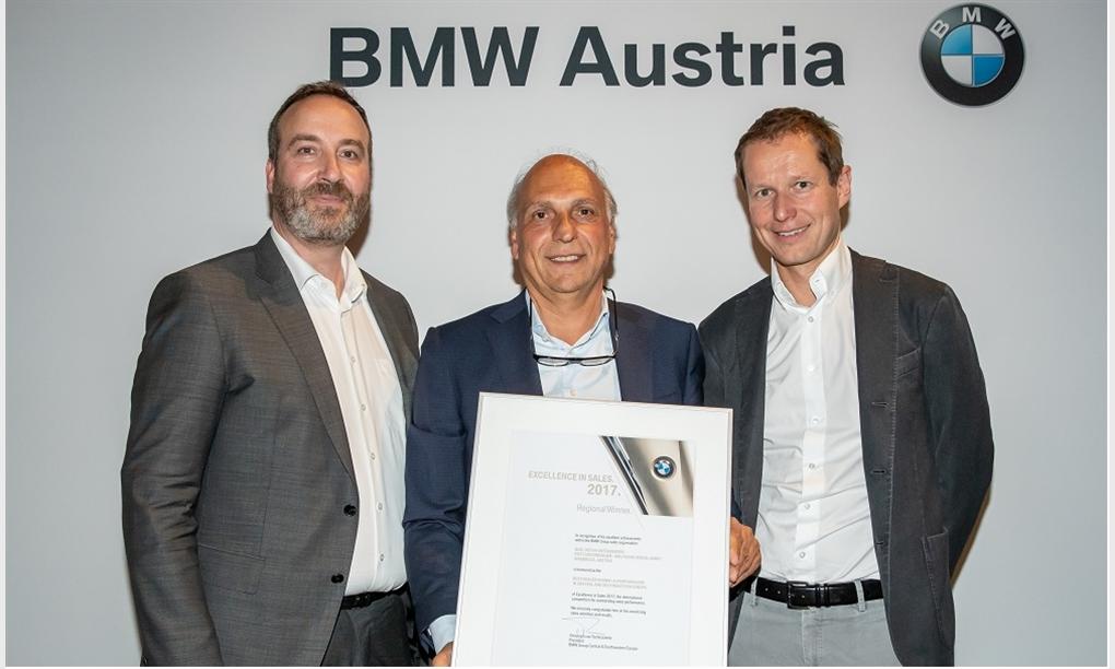 BMW Group Kompetenzzentrum Unterberger-Denzel ist bester BMW i Händler in Zentral- und Südosteuropa