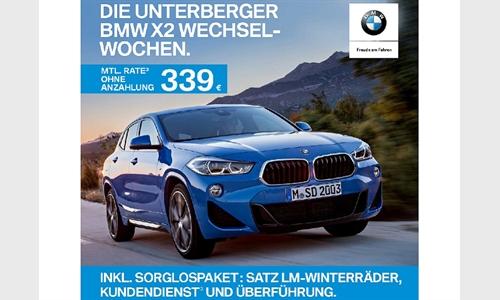 Foto der News DIE UNTERBERGER BMW X2 WECHSELWOCHEN.
