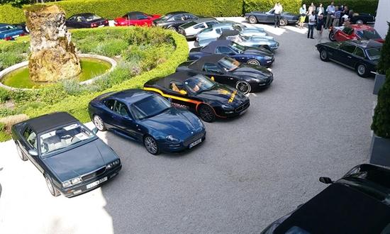 Bild der News Clubtreffen mit rund 100 klassischen und modernen Maserati