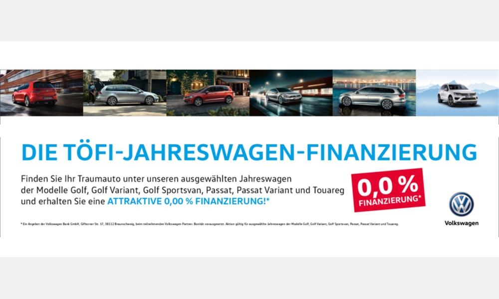 Null Prozent Finanzierung auf Jahreswagen