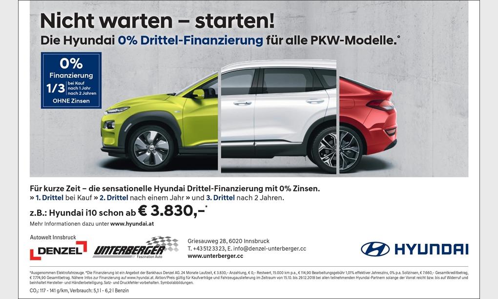 Die Hyundai 0% Drittel-Finanzierung