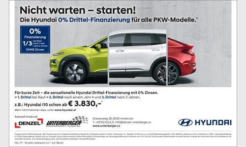 Foto der News Die Hyundai 0% Drittel-Finanzierung