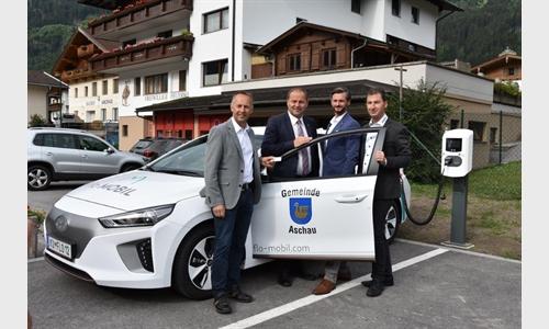 Foto der News Umweltfreundliche Mobilität für die Gemeinde Aschau im Zillertal
