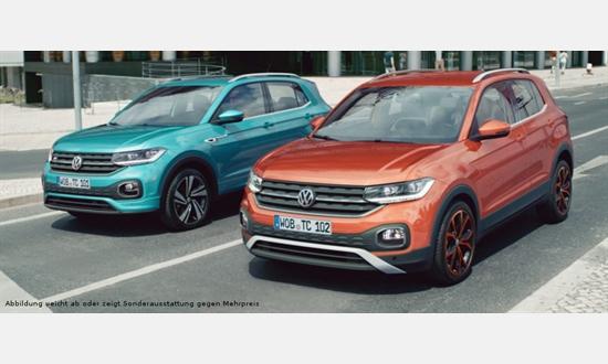 Foto des Serviceangebots Volkswagen T-Cross 1.0 l TSI OPF für 129€ im Monat