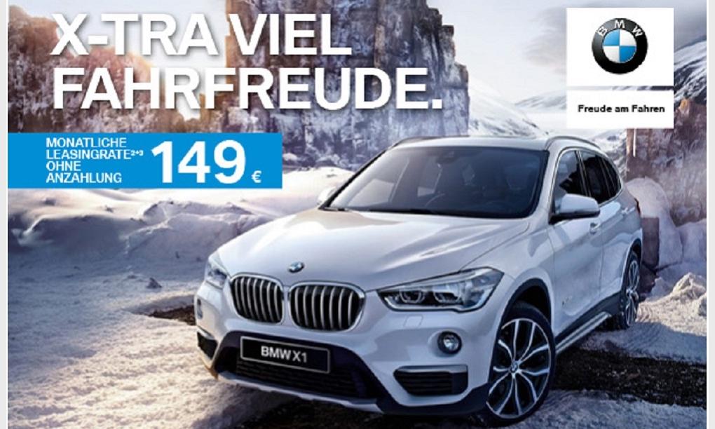 X-TRA VIEL FAHRFREUDE. Unser Privatkunden-Leasingangebot: BMW X1 SDrive 18i