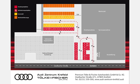 Foto des Downloads Audi Zentrum Krefeld Parkplatzplan