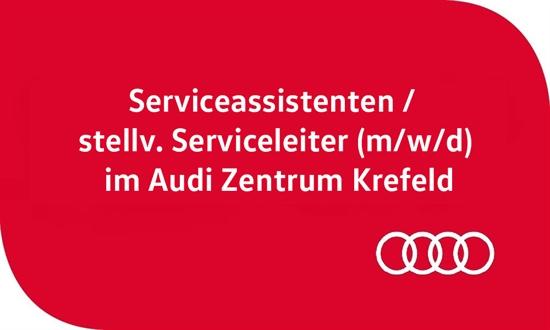 Foto des Stellenangebots Serviceassistenten / stellv. Serviceleiter (m/w/d) im Audi Zentrum Krefeld