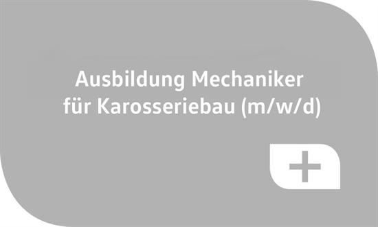 Foto des Stellenangebots Ausbildung Mechaniker für Karosseriebau (m/w/d)