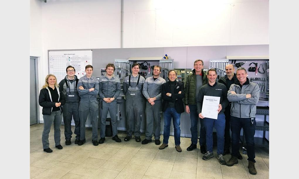Zertifizierung gemäß Volvo VPS-Richtlinien