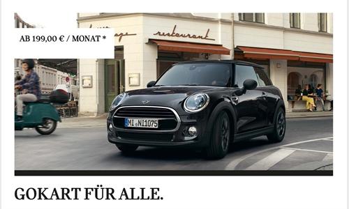 Foto der News DER MINI ONE BLACKYARD 3-TÜRER. JETZT AB 199,00 € IM MONAT LEASEN.