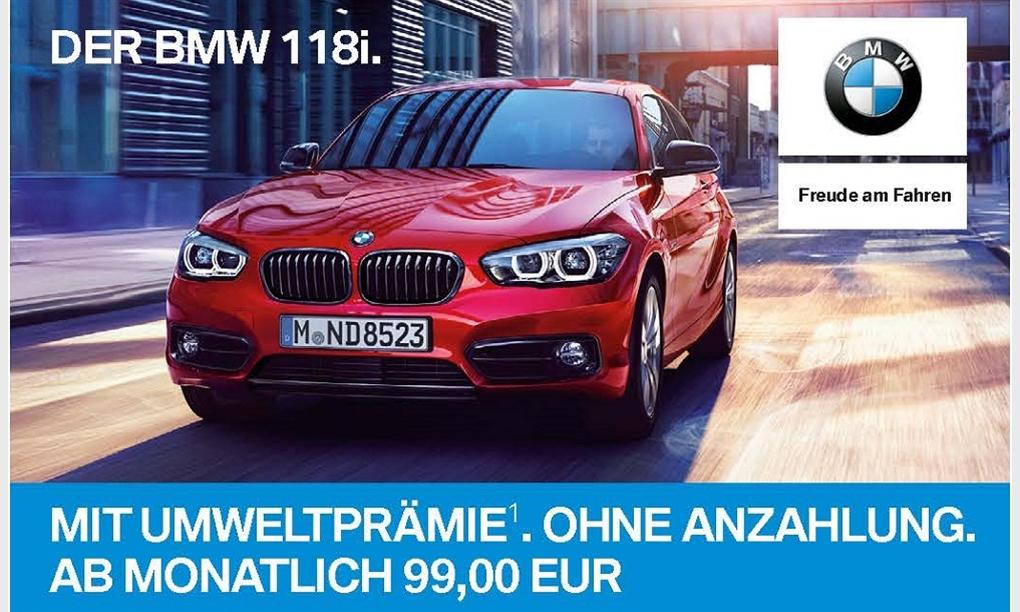 DER BMW 118i.