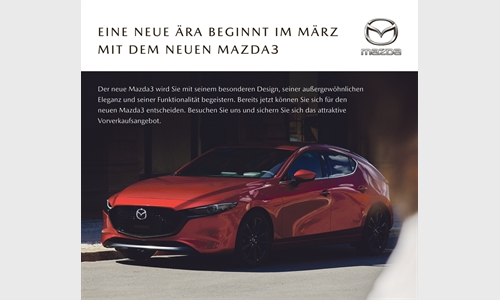 Der neue Mazda3: Der Beginn einer neuen Ära