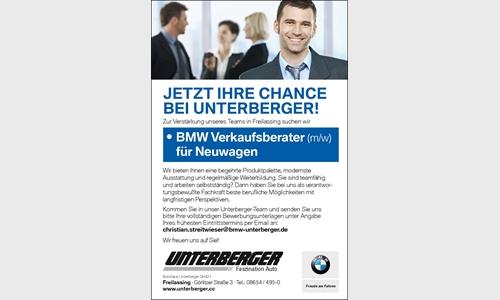 Foto des Stellenangebots BMW Verkaufsberater für Neuwagen (m/w)