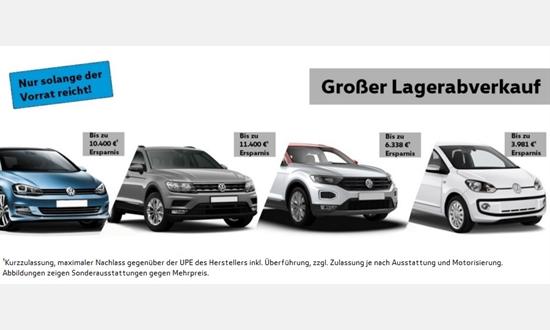 Foto des Serviceangebots Großer Lagerabverkauf bei Volkswagen