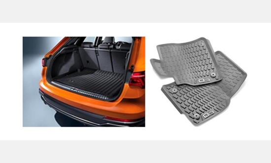 Foto des Zubehörangebots 15% Rabatt auf original Audi Gummimatten und Kofferraumeinleger