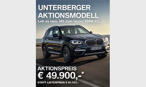 Foto der News BMW X3 Unterberger-Edition-Aktion