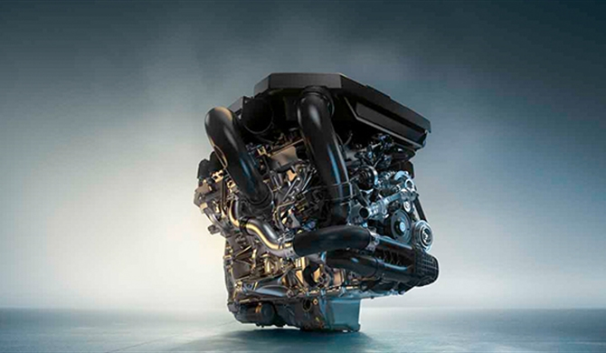 HIGH-PERFORMANCE M TWINPOWER TURBO REIHEN-&-ZYLINDER BENZINMOTOR.