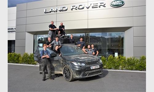 Foto der News Shooting mit dem Range Rover Sport aus dem James Bond 007 Film