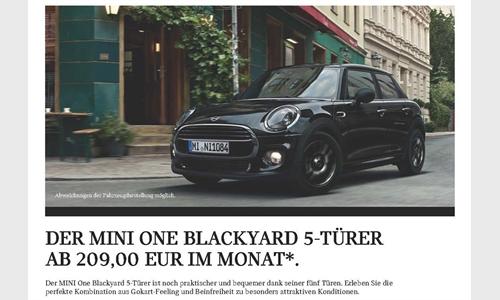Foto der News DER MINI ONE BLACKYARD 5-TÜRER