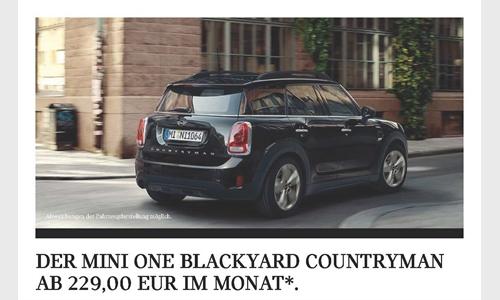 Foto der News DER MINI ONE BLACKYARD COUNTRYMAN