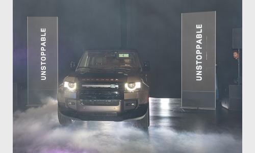 Foto der News Präsentation des neuen Land Rover Defender