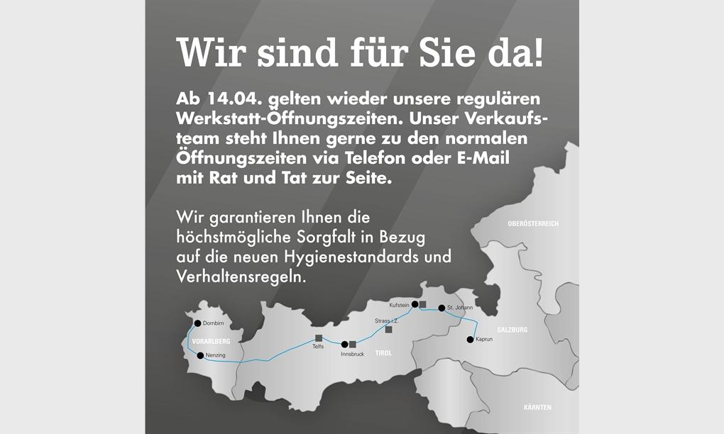 Reguläre Werkstatt-Öffnungszeiten!