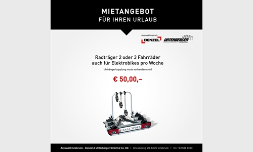 Foto des Serviceangebots Mietangebot Radträger