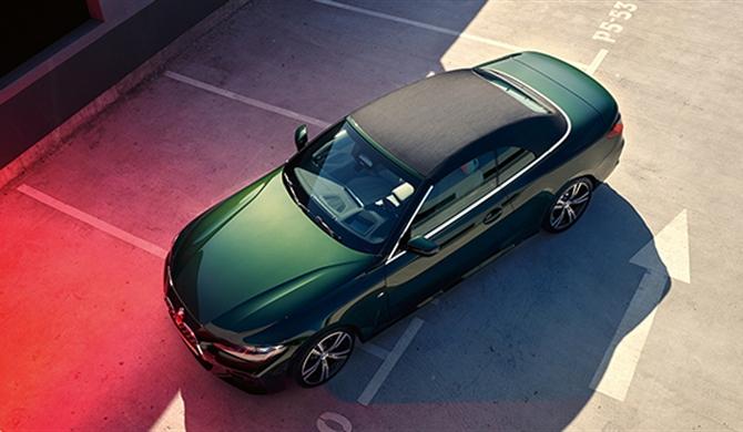 DAS STOFFVERDECK DES BMW 4er CABRIO.