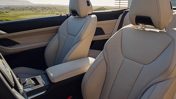 Das Interieur-Design des BMW 4er Cabrio.