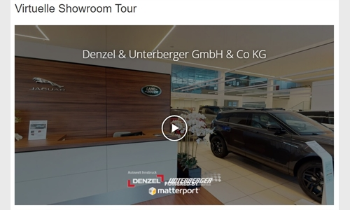 Foto der News Virtuelle Showroom Tour