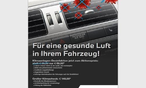 Foto des Serviceangebots Für eine gesunde Luft in Ihrem Fahrzeug!
