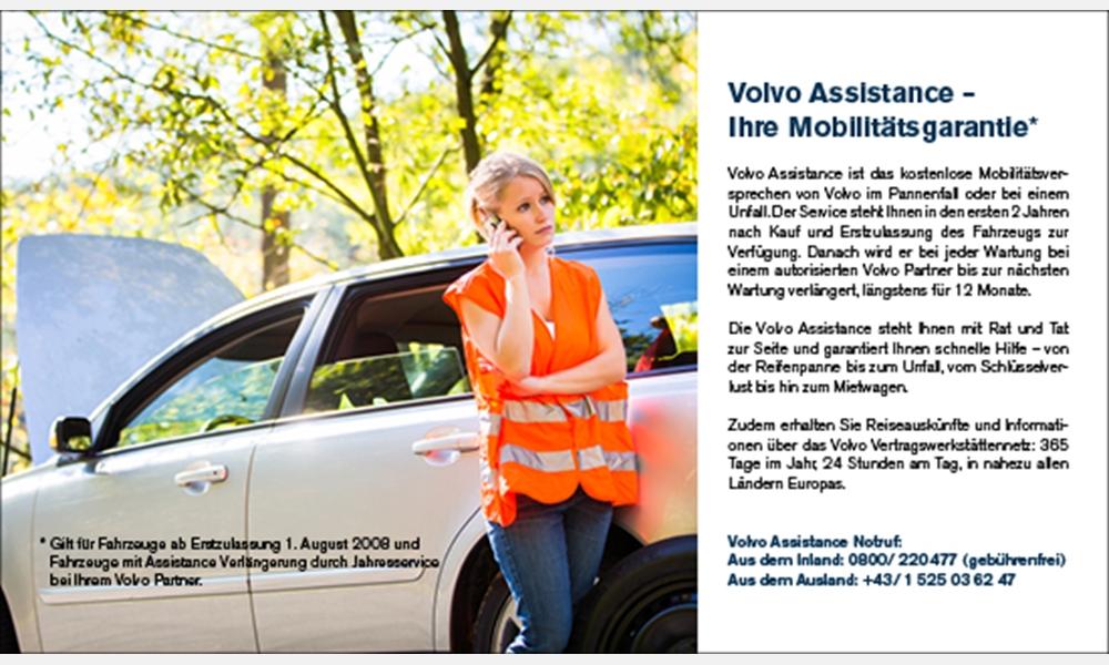 Volvo Assistence- Ihre Mobilitätsgarantie
