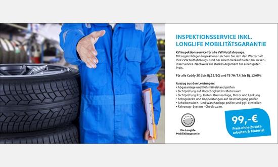 Foto des Zubehörangebots VW Nutzfahrzeuge Inspektionsservice inkl. Longlife Mobilitätsgarantie