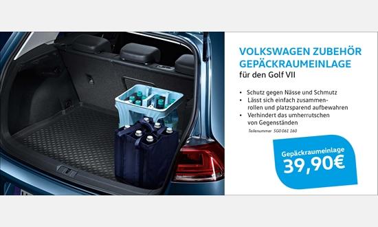 Foto des Zubehörangebots Volkswagen Zubehör Gepäckraumeinlage für den Golf VII
