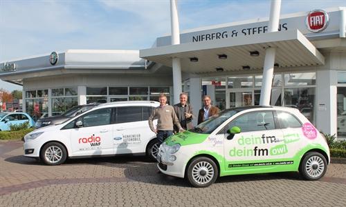 Foto der News Zwei Fahrzeuge der Hankemeier Gruppe im Einsatz für Radio WAF