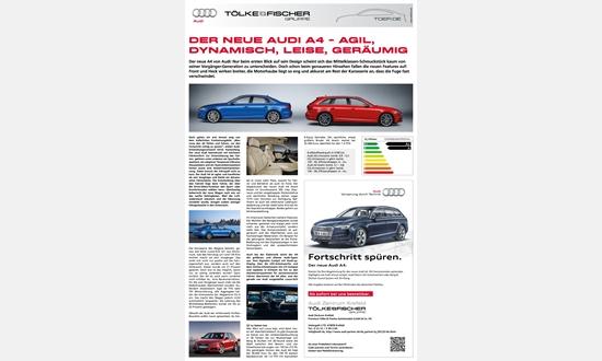 Foto der News Der neue Audi A4- agil, dynamisch, leise, geräumig